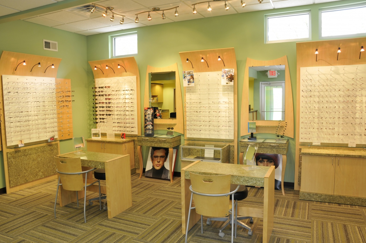 eye glasses dispensary area in optomologist clinic