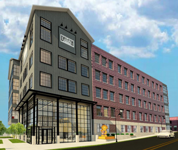 3d color rendering of duluth trading facility