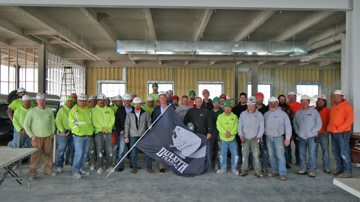 Madison General Contractors celebrate Topping Out at Duluth