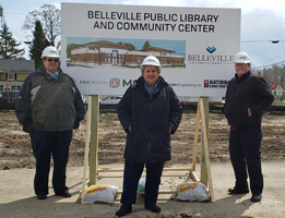 village of belleville library ground breaking